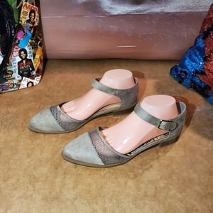 2 for $40 Brash round toe ankle strap flats